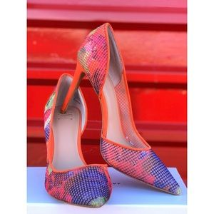 INC Kenjay d'Orsay Fabric Pointed Pumps